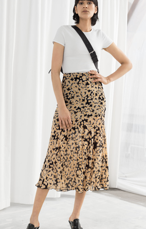 Floral Print Midi Skirt, £41, &OtherStories