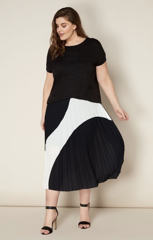 Live Unlimited Pleated Skirt, £65, Next