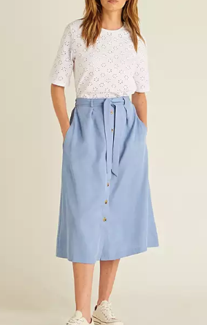 Button Through Midi Skirt, £55, Oliver Bonas