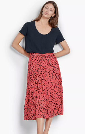 Marina Heart Midi Skirt, £65, Hush