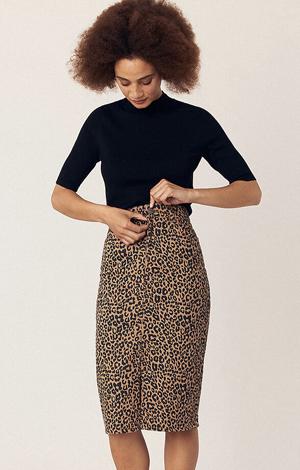 Leopard Print Midi Skirt, £42, Oasis