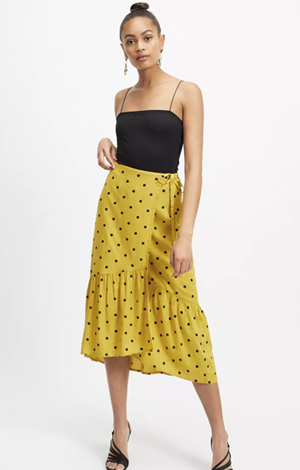 Lime Spot Print Wrap Skirt, £32, Miss Selfridge