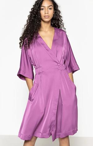 Purple kimono dress, £23.60, La Redoute