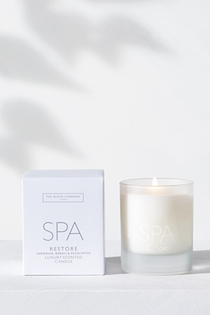 Spa candle, £20, The White Company