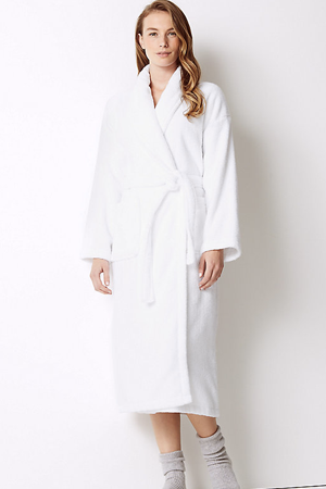 Pure Cotton Towelling Dressing Gown, £30, M&S
