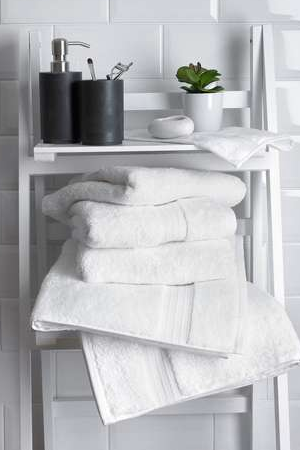 White Egyptian cotton towels, from £1.25, Dunelm