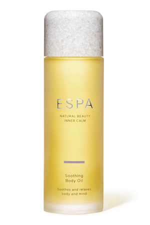 Soothing body oil, £34, ESPA
