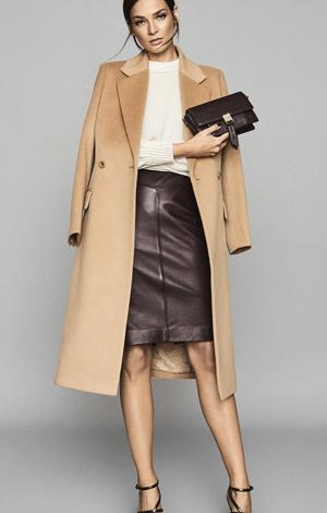 Megan Leather Pencil Skirt, £225, Reiss