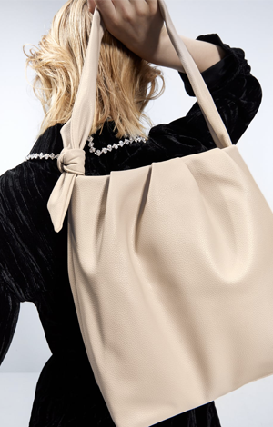 Soft Tote Bag with Knotted Strap Details, £17.99, Zara