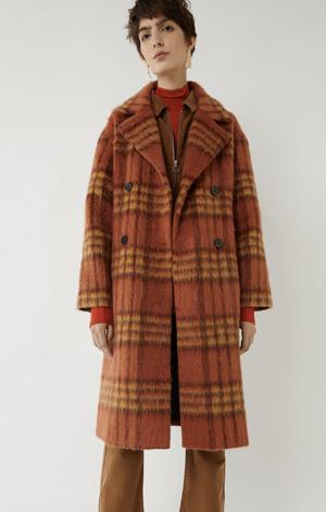 Rust Check Coat, £76.80, Warehouse
