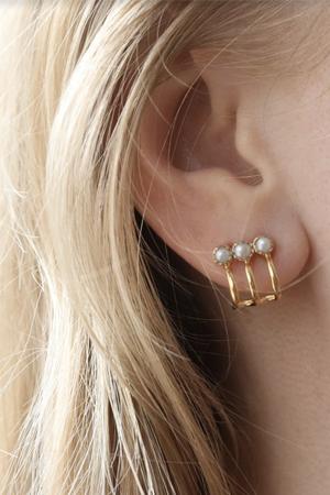 Vimla pearl gold earrings, £27.99