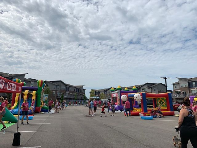 The Block Party is set up and ready to go! Come join us until 2 pm at Rose Senior Living Center in Carmel.
