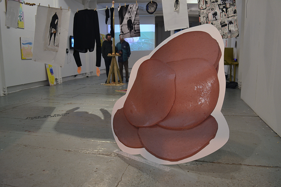 Image credit: Luke Carl Smith,  Sexy Ham , installation shot, 2018