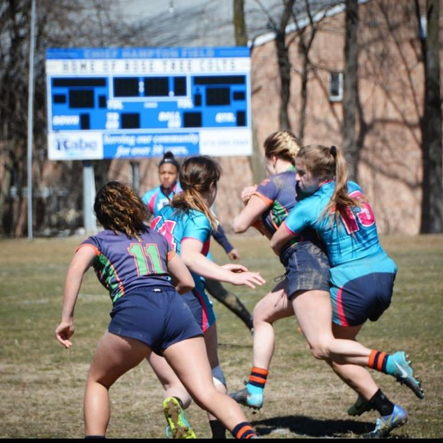 It's officially spring, but winter is just hanging on like... #girlsrugby #highschoolrugby #rugby #phillyrugby #wecantplayrugbyifitkeepssnowing