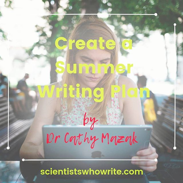 In just a few weeks, it will be summer. Comment below 👇 if you are already making ambitious writing plans for those months when the university feels quiet and empty! In today's blog post, my friend Dr Cathy Mazak, gets you to make a reality-check first: How much writing did you actually get done last summer? Cathy is a writing coach for academic women and a tenured professor. She teaches you a 3-step process to set and accomplish realistic goals for your summer writing. To read the whole post, DM me for the link of go to scientistswhowrite.com and click on the first entry. ⠀ .⠀ .⠀ .⠀ .⠀ .⠀ .⠀ .⠀ #ProfessorsOfInstagram #AcaWri #ResearchLife #ECRchat #EarlyCareerResearcher #PublishOrPerish #PhDJourney #GradschoolLife #PostDocLife #PostDoc #newPI #summerwriting #writing #academicwriting #scientificwriting #scientists