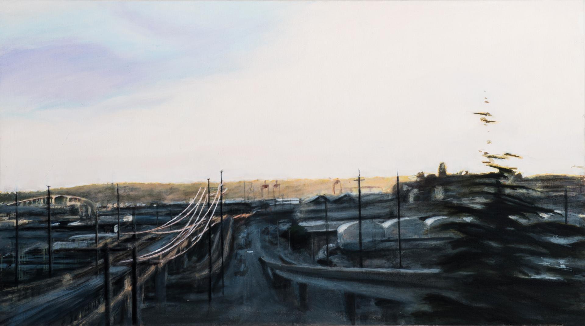 "Still Valley, oil on canvas, 20"" x 36"""