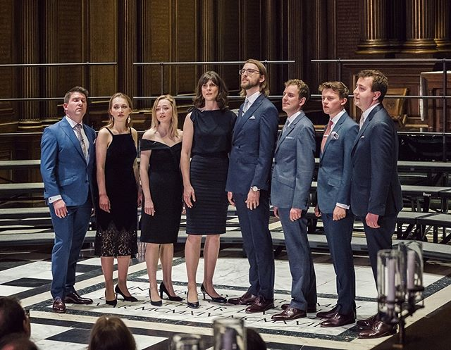 How incredible for us to return to Trinity College Chapel In Cambridge for a concert this past week! Three members of our line up sang in the college choir here, and we've recorded one of our albums in this building as well. Great to be back, and with a wonderful audience! Watch the full performance by following the link in our bio 📸 Andrew Wilkinson #v8cambridge #voces8ontour