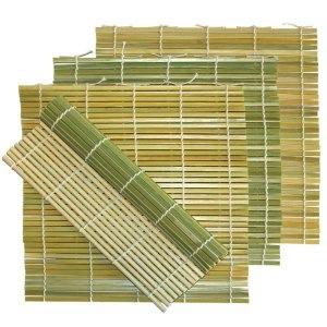 A sushi mat is like a macro photo of paper grain.