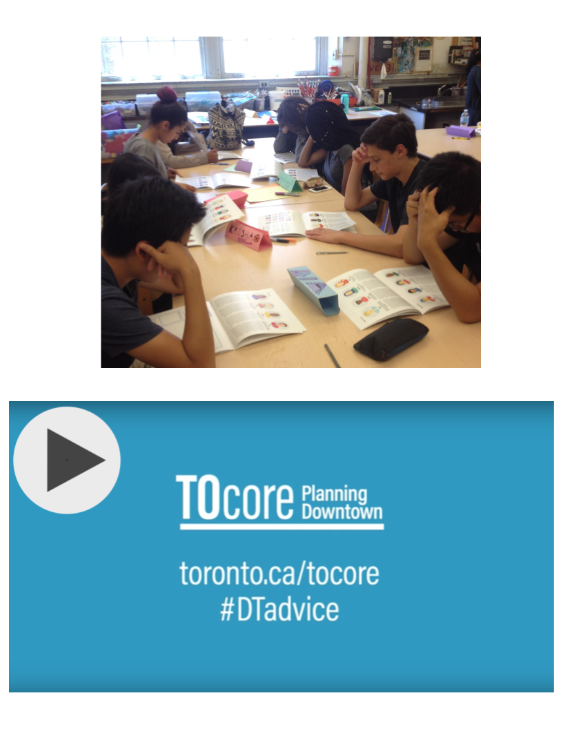 TOcore - Maximum City was part of a diverse consultant team responsible for the City of Toronto's TOcore Communications and Engagement Plan, led by Swerhun Facilitation. TOcore is a multi-year, interdivisional study looking at how growth can positively contribute to Toronto's downtown. Maximum City played a key role in public facilitation and the development of online and in-person engagement tools, including the #DTadvice video (with over 30,000 YouTube views).Click image at right to view the #DTadvice video.