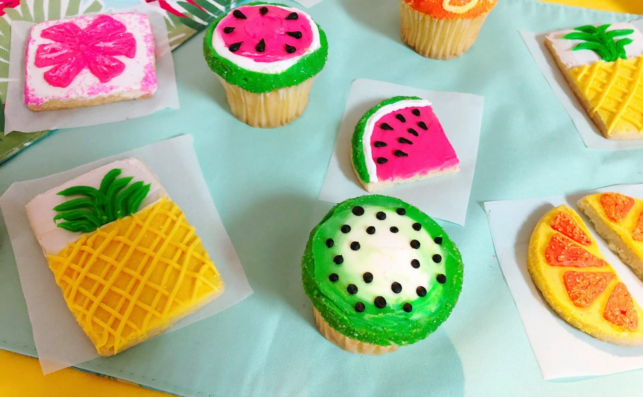 Cupcakes and cookies decorated in class will be similar to picture.