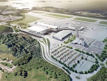 Flesland Lufthavn T3 - Robin Eriksen - Byggeleder ITB (Sweco)Asbjørn Morland - Byggeleder IKT (Sweco)Byggherre: AvinorFerdigstilt: 2017Illustrasjon: Nordic - Office of Architecture