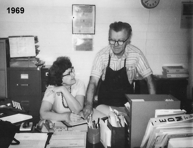fOUNDERS jOHN AND ANGIE MARUSIAK IN 1969, SHORTLY AFTER MTI OPENED ITS DOORS FOR BUSINESS