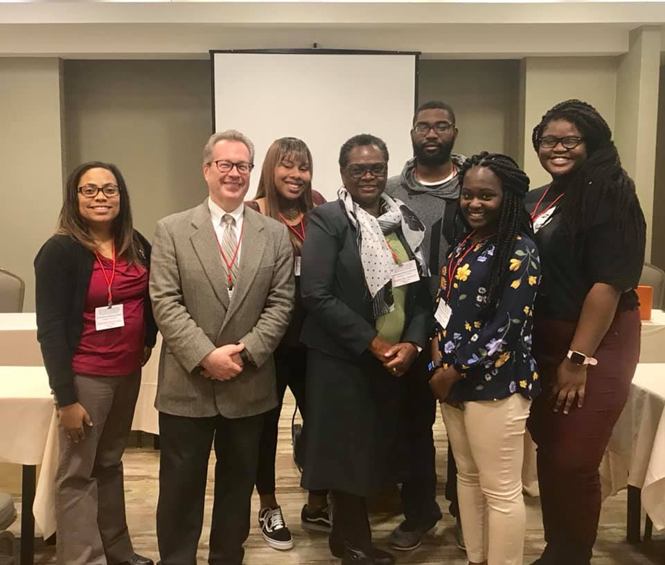 NAAS Conference 2019 - Dr. Allen, Dr. Ashton and Ms. Keyonté Jackson represented Tougaloo College well as they addressed why the study of MDS is important in education; and how Artificial Intelligence is a vehicle of Modern Day Slavery. We cannot forget the fabulous poster board presentation from Professor Maberry. Ms. Sherbria Green, Ms. Tierra Harvey, and Mr. Samuel Graves added their scholarship to the dialogue on MDS by presenting an analysis of socioeconomic status on children of color and the role the internet plays in slavery. We are proud to be with this team of faculty and students at the 27th Joint National Conference in Dallas, TX. For more pictures and videos, click here.
