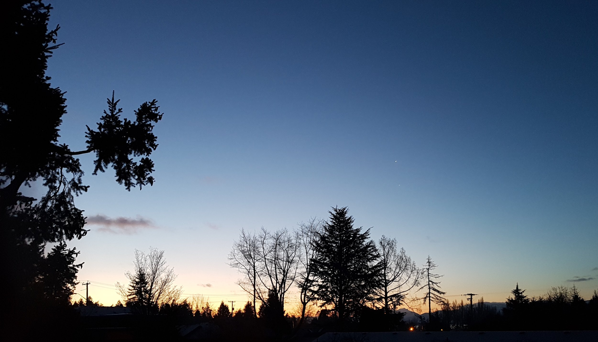 Sunrise this morning (The breezes at dawn have secrets to tell you…)