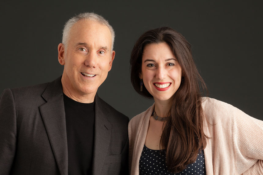 Dan Millman & his daughter; author, journalist, Sierra Prasada