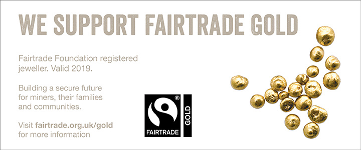 REGISTERED AS A FAIRTRADE GOLDSMITH in since 2014 - In 2014, I first registered as a Fairtrade Goldsmith, a scheme set up to enable small business designer/makers like myself to buy Fairtrade Gold to use in our designs.