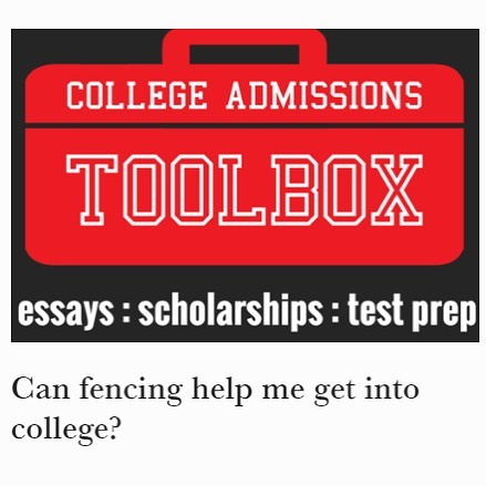 "Many parents want an answer to this question ""Can fencing help get me into college?"" Is it a privilege confined to an elite few, or is it more broadly available. The good news is that it is more available than what most of us parents realize, if we understand the landscape and make the right moves. Click on the link in our bio to find the whole story."
