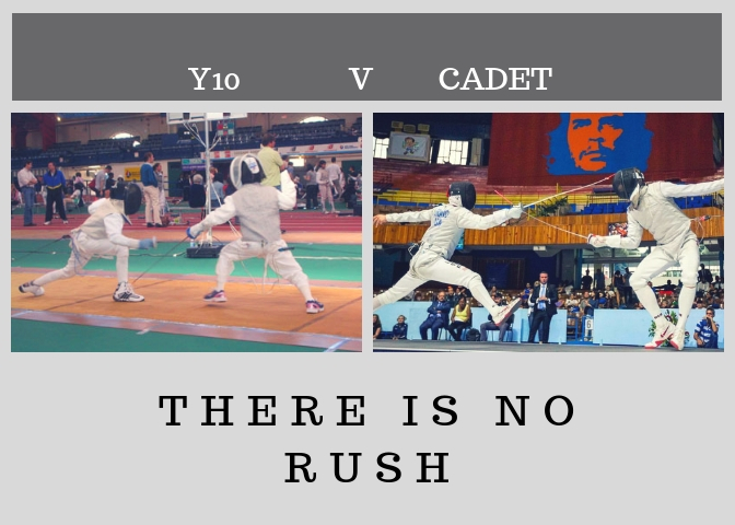 A world of difference between Y10 and Cadet fencers