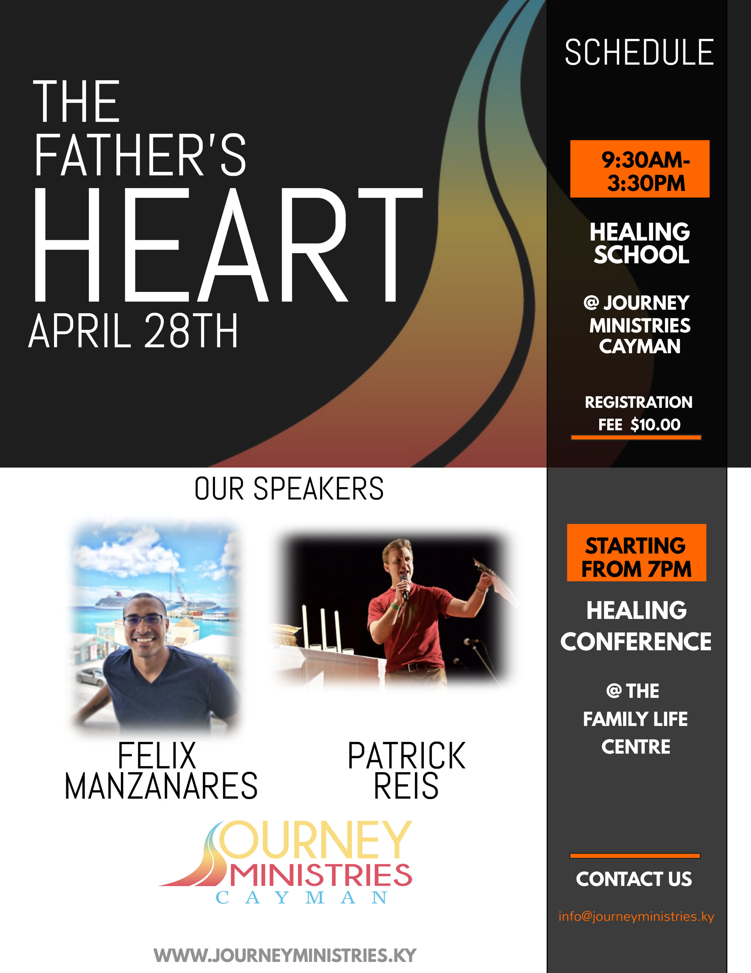 The Father's Heart Healing School and Conference (April 28th)