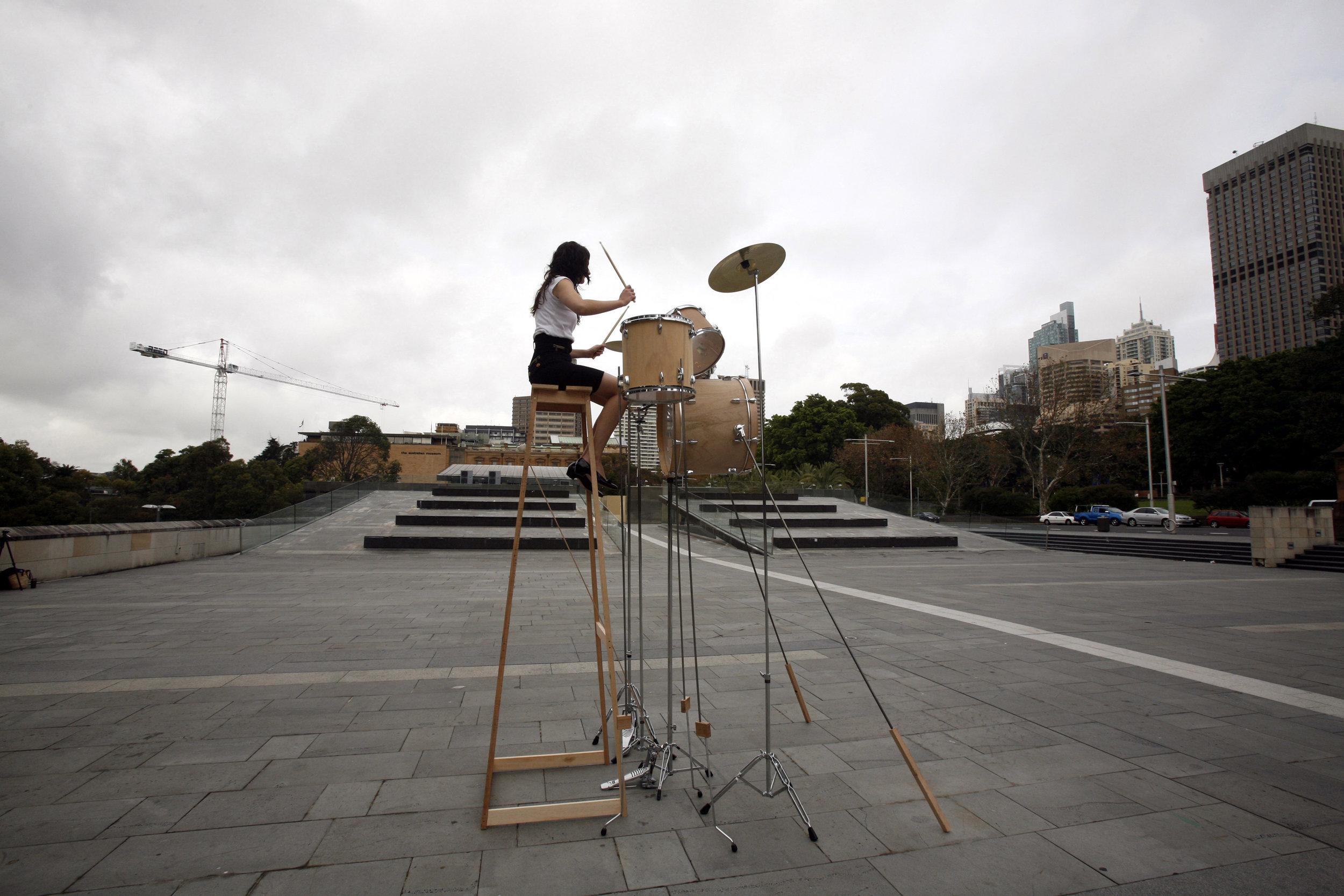 Drum Riser 2008  Performance Still  Image by Jek Maurer  MONA FOMA 2010