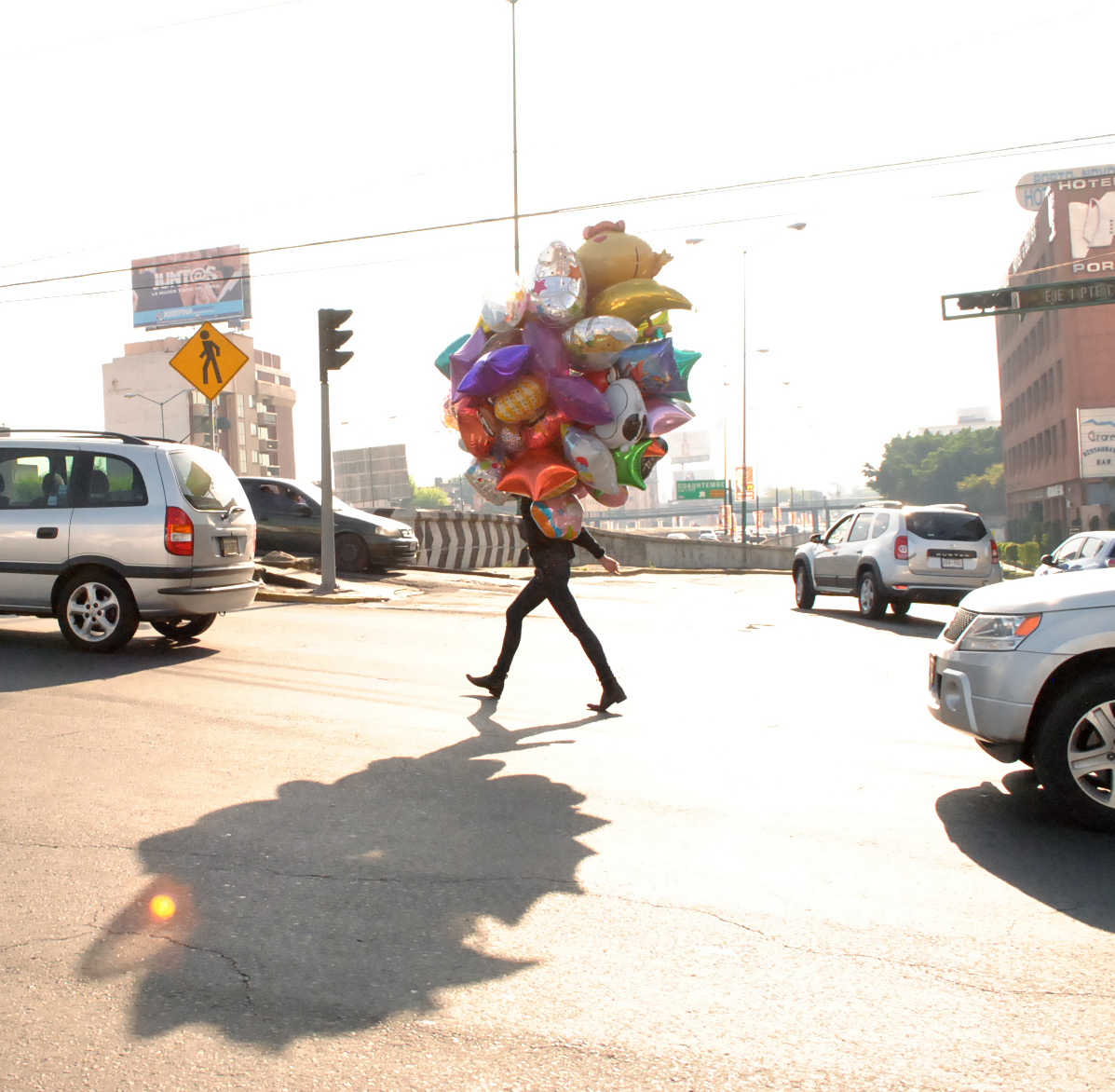 Walk in Traffic,2012 Single channel High Definition video, 16:9, colour, sound 3 minutes 7 seconds  Sound By Bree van Reyk