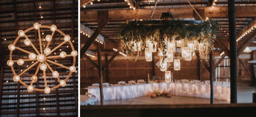A photo of the inside of  The Buckeye Barn