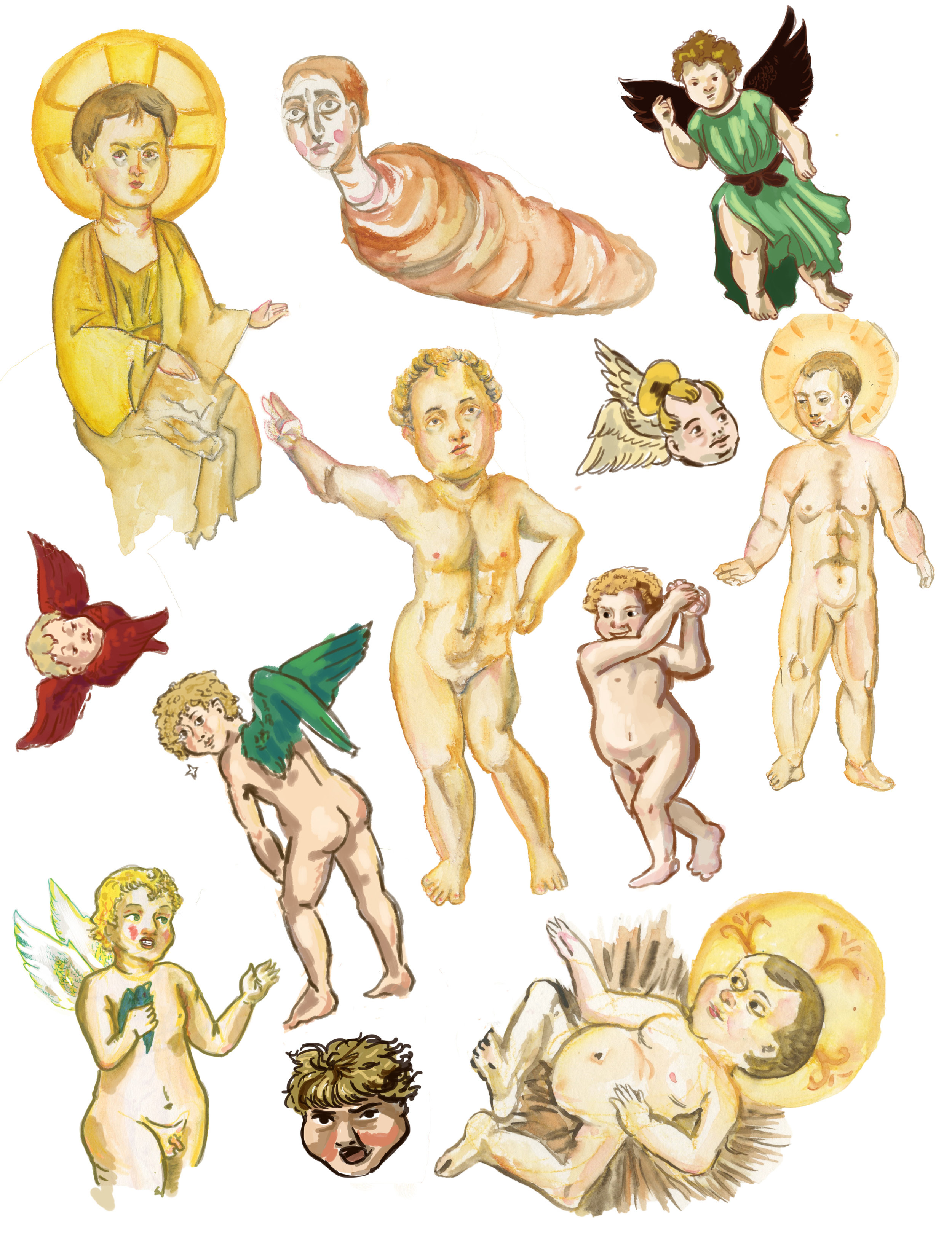 Ugly Baby Sticker Set -