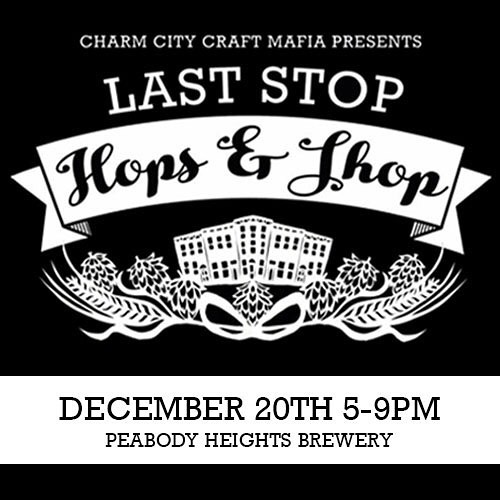 Catch us out next Thursday at @charmcitycraftmafia's Last Stop Hops & Shop at @peabodyheightsbrewery! #baltimoremakers #wonderbooks