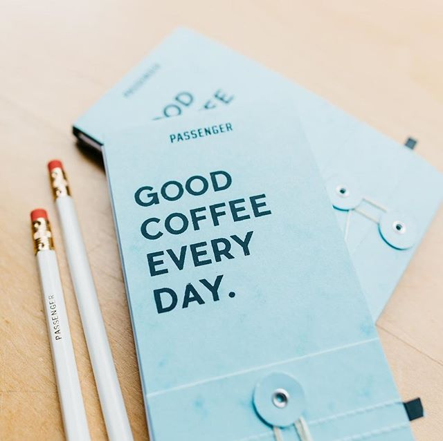 "Happy to share this custom project we did recently for @passengercoffee! The ""Good Coffee Every Day"" bar log includes formatted pages that allow baristas to dial-in and record adjustments to keep their brew tasting perfect all day; as well as a button/ string enclosure to keep the pages protected from steam or coffee stains.  You can buy Passenger's single origin roasts in their beautiful flagship cafe in Lancaster, PA, in coffee shops throughout the east coast and elsewhere, as well as on their website! #passengercoffee #goodcoffeeeveryday #wonderbooks"