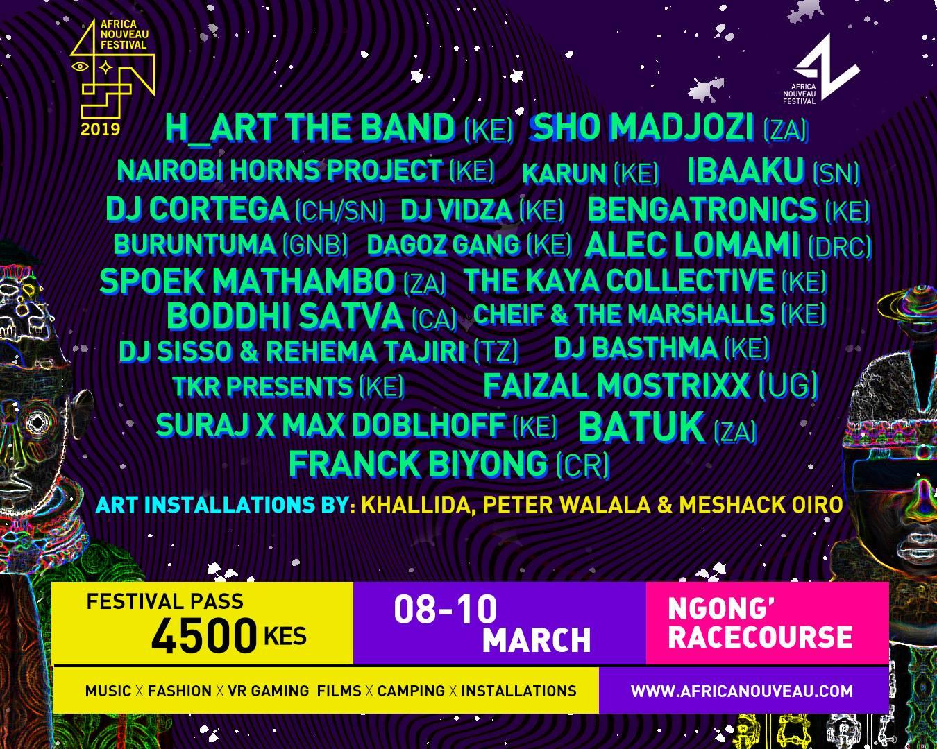 Africa Nouveau Festival 2019 Line Up