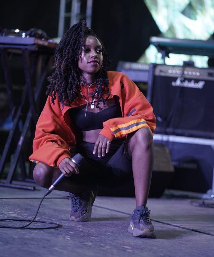 Karun performing at Nairobi Thrift Social in ARAKNIDA Custom Sweatshirt