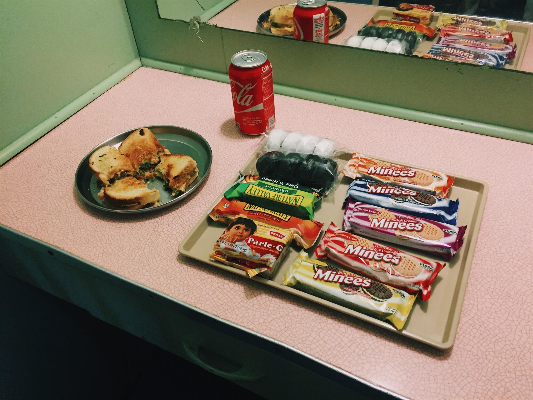Snack tray, Budget Inn, Sanderson TX