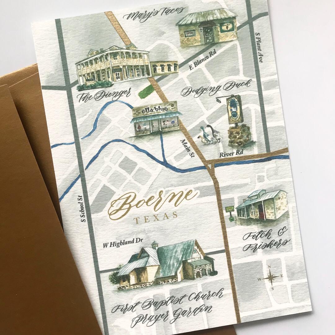custom-watercolor-map-boerne-texas-wedding-sojourn-art-and-ink.JPG