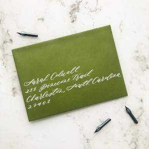 Left Aligned Envelope Calligraphy | Sojourn Art and Ink