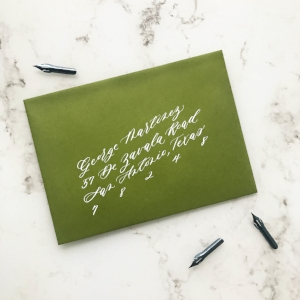 Slanted Envelope Calligraphy | Sojourn Art and Ink