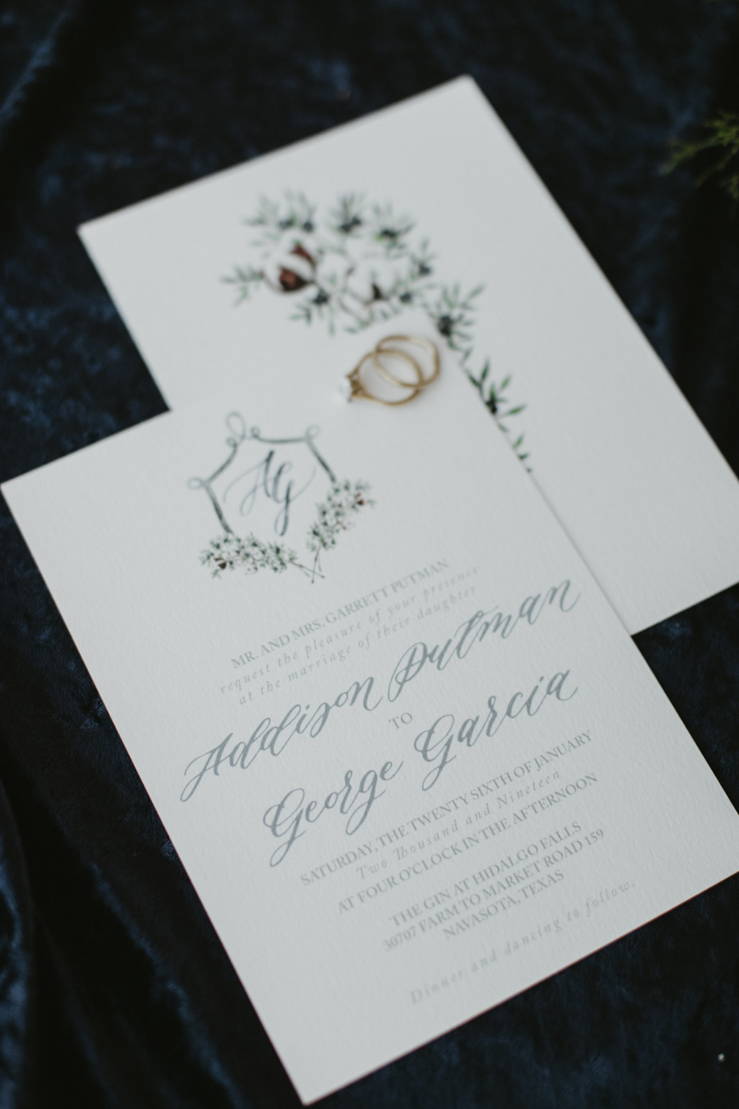 Custom Watercolor Styled Shoot Stationery | Custom Stationery | Sojourn Art and Ink