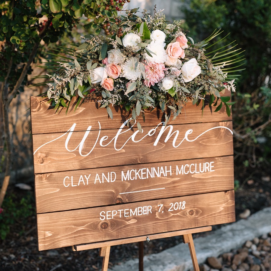 Rustic Wood Wedding Sign | Custom Sign | Sojourn Art and Ink