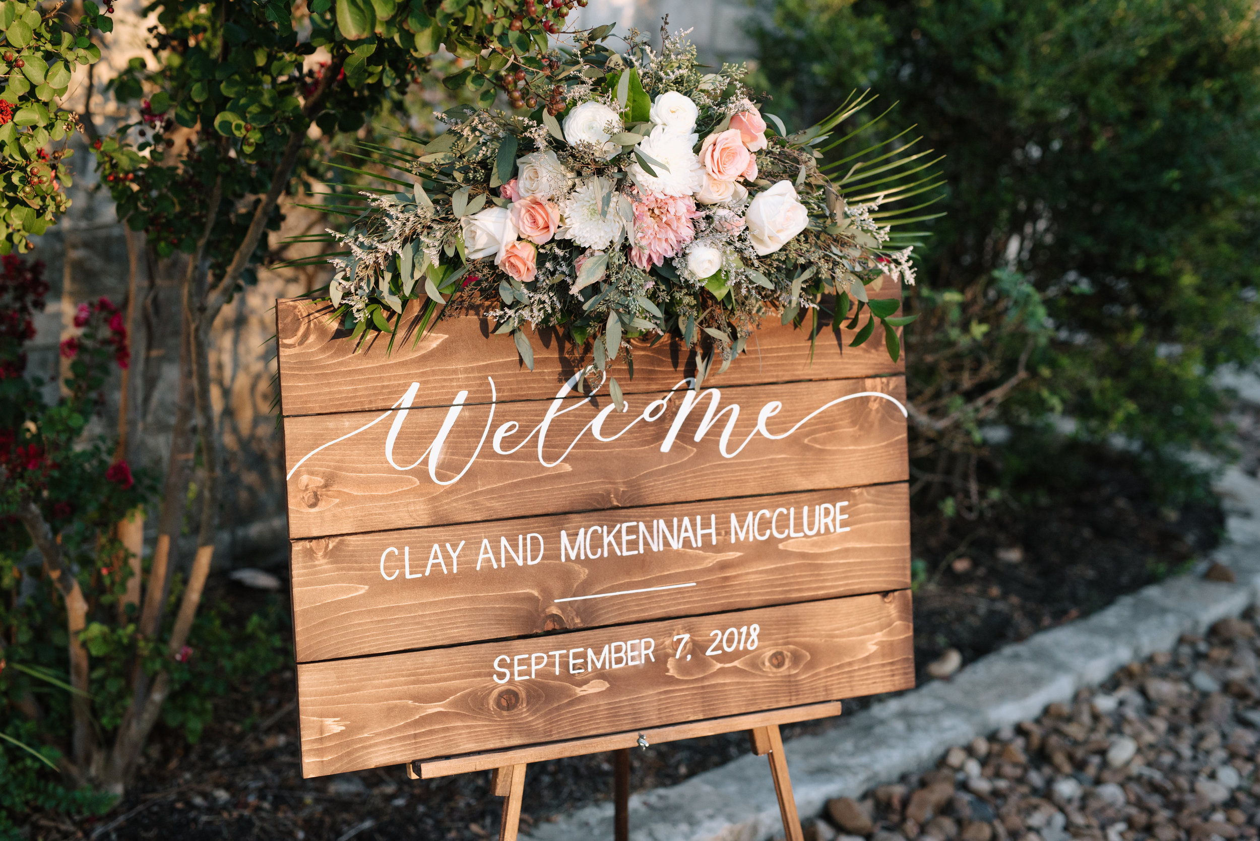 Custom Rustic Wedding Welcome Sign | Custom Day-of Item | Sojourn Art and Ink