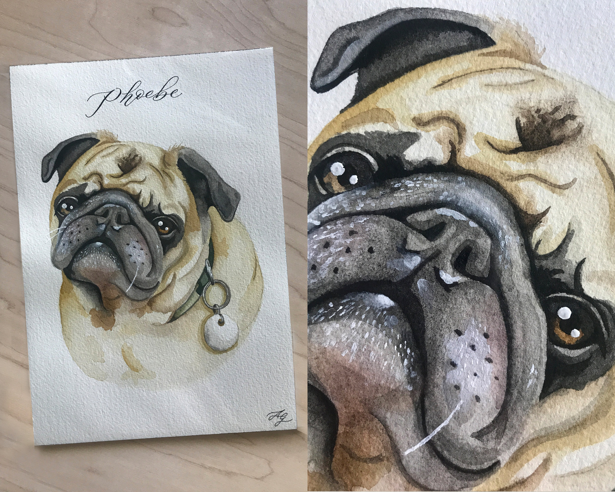 Custom Watercolor Pet Portrait | Sojourn Art and Ink