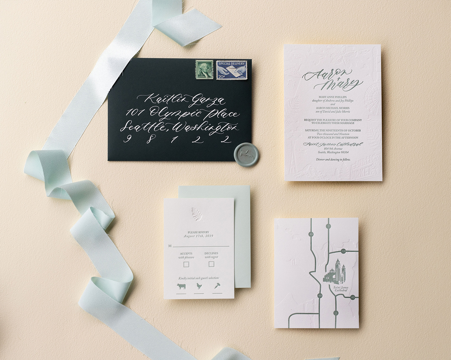 Custom Wedding Stationery | Sojourn Art and Ink